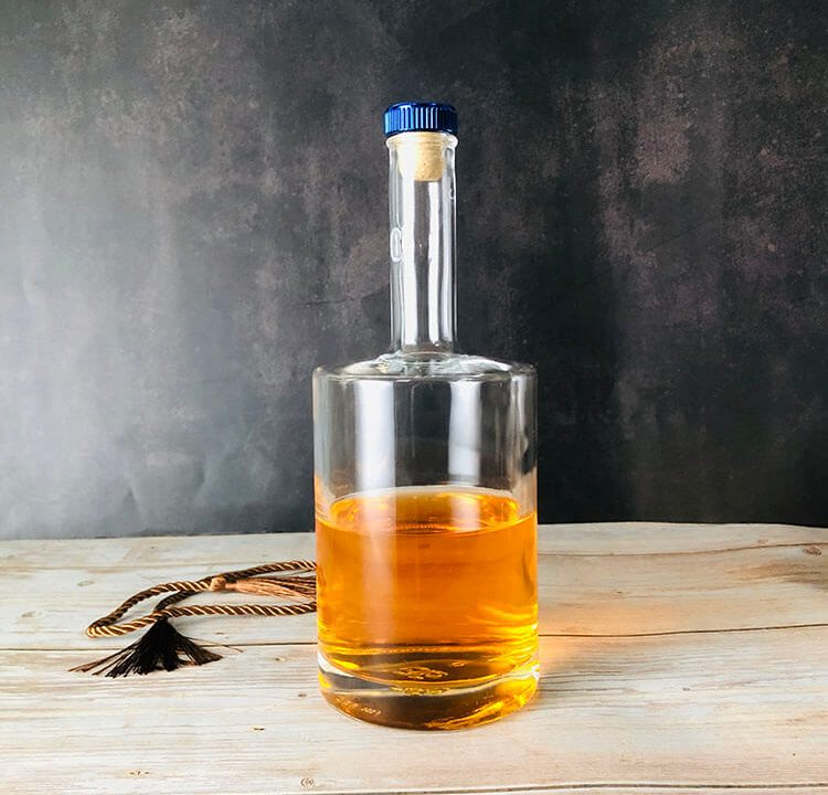 Round Glass Bottle for Vodka
