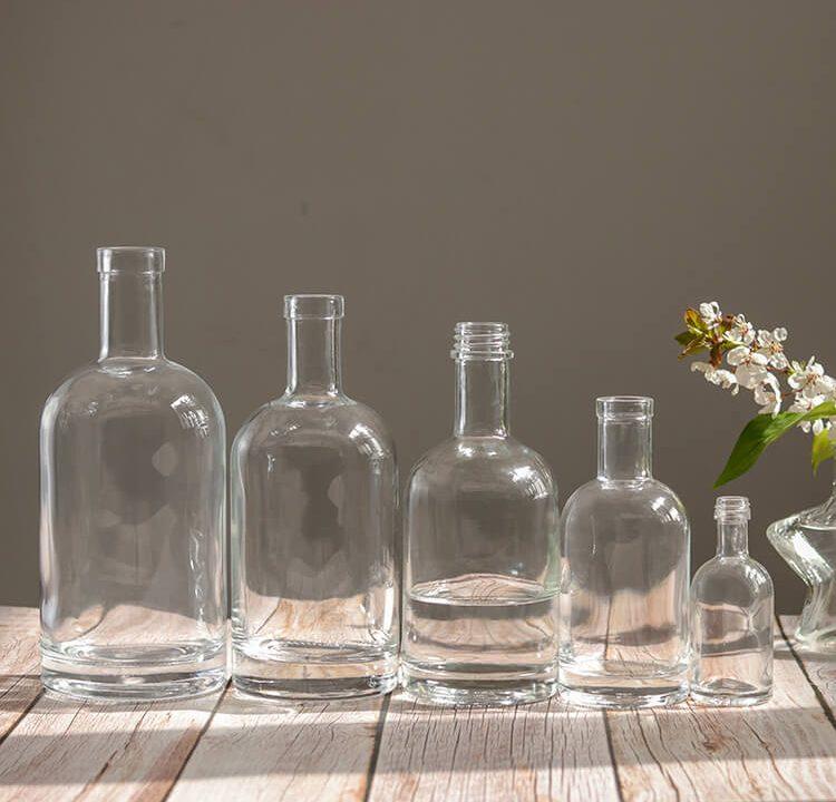 500ml Clear Rum Bottle